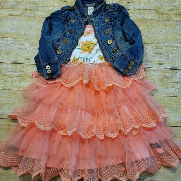 Matilda Jane Floral Ruffle Layer Dress & Jacket